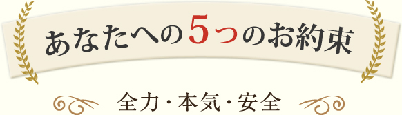 5つのお約束(全力・本気・安全)