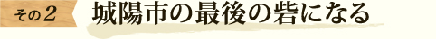 京都城陽市の最後の砦になる