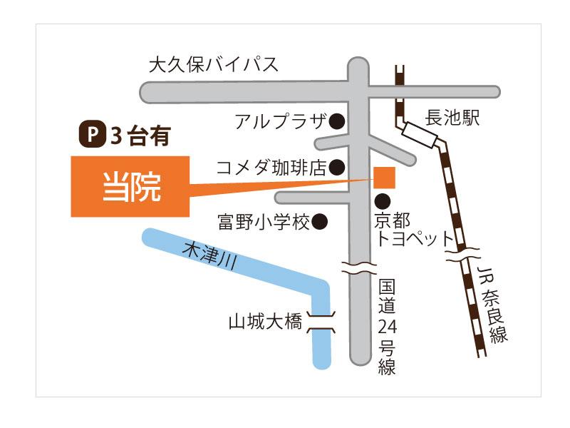 陽なた整体院までの地図